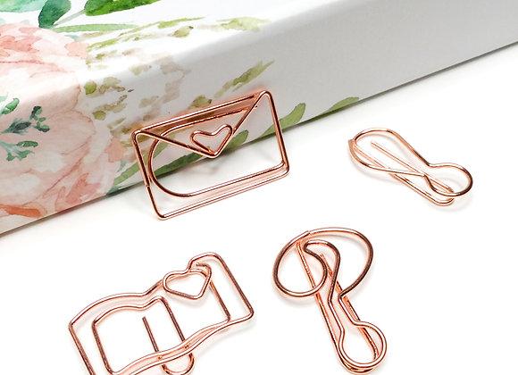 Book Worm Paper Clip Set