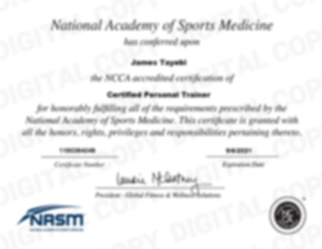 NASM-CPT CERTIFICATE