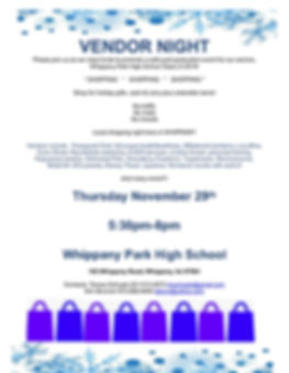 PG2018 vendor night flyer for  SHOPPERS!