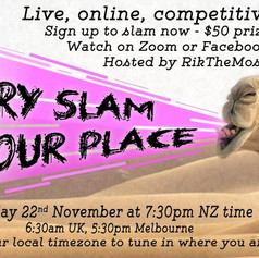 Poetry At Your Place Slam Event