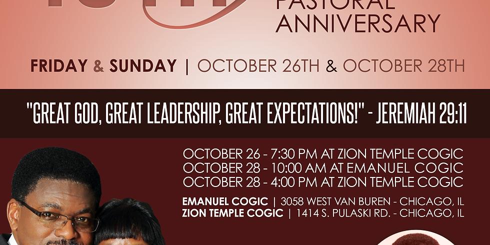 15th Year Pastor Anniversary