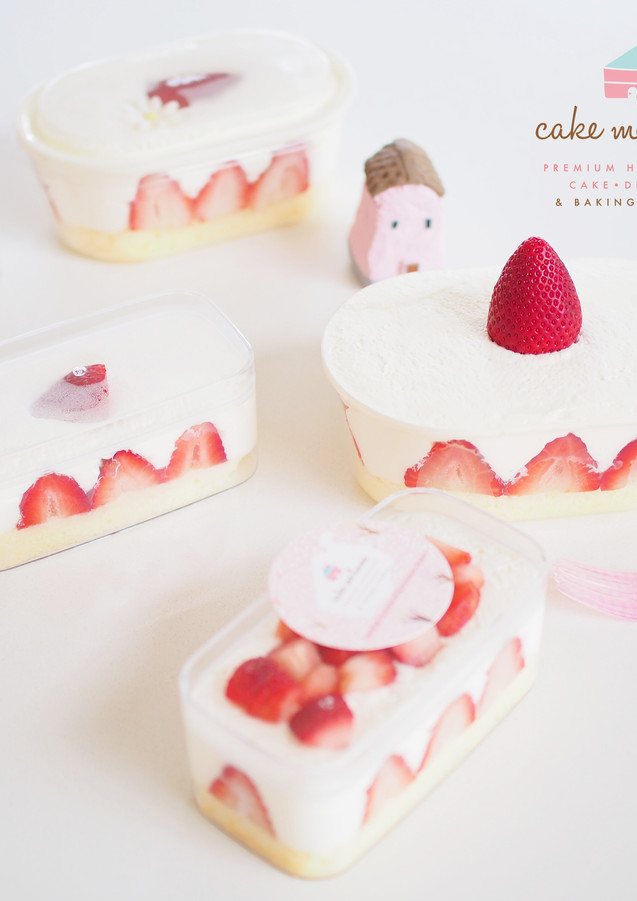 Korean Style Strawberry Cake Box