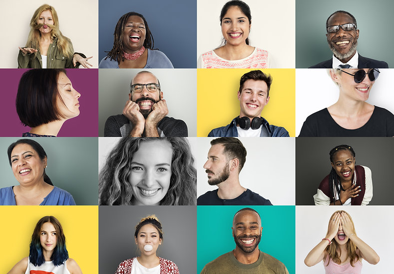 Diverse People Smiling Happiness Cheerfu