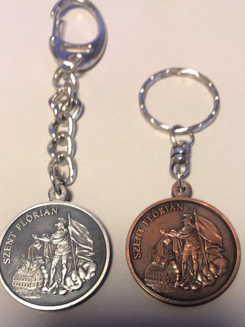 Kulcstartó Szent Flórián medál