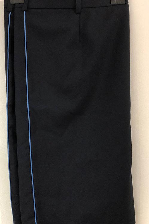 Szolgálati szoknya (világos kék csíkkal az oldalán)