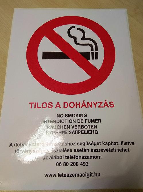Matrica  Dohányozni tilos  felirattal