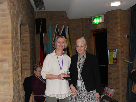 Rebecca Butterworth wins award for Outstanding Contribution to the Community