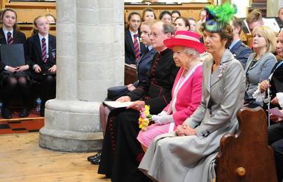 HM The Queen visits St Pete's Church & Berkhamsted School