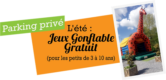 Parking-privéL'été----Jeux-Gonflable-Gra