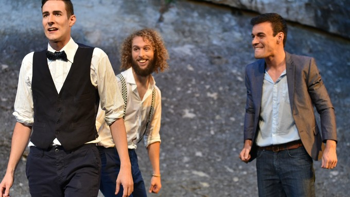 Mercutio, Benvolio, Romeo