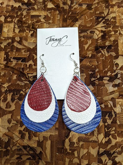 Patriot Lizard Earrings