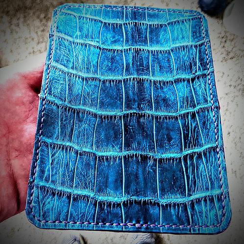 Teal Alligator 4 Pocket Wallet