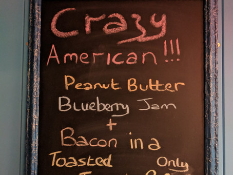 new Crazy but Yummy!!!, on our rotating 'Specials board'...