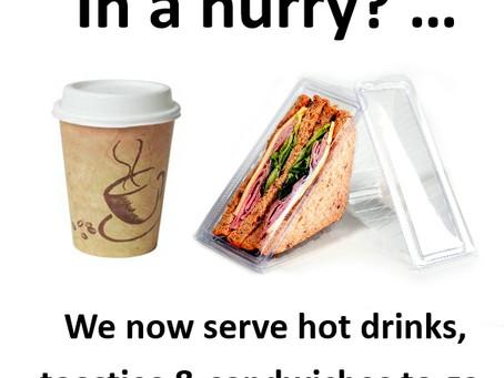Hot Toasties & Coffee to-go !!