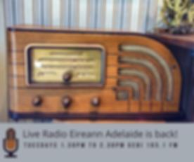 Live Radio Eireann Adelaide is back! (1)