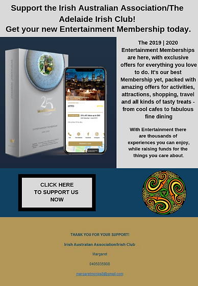 FOR WEB. Support the Irish Australian As