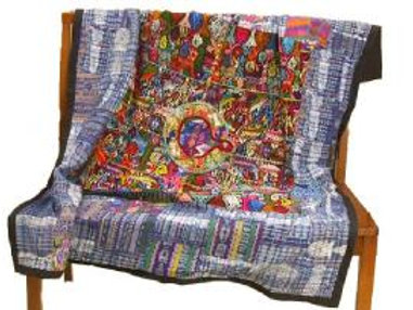 """Embroidered """"Huipile"""" Quilt - Centre Panel"""