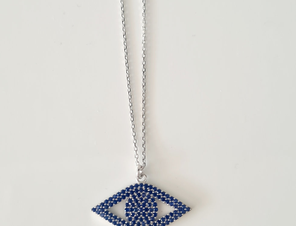 Bella Evil Eye Necklace - sterling silver