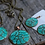 Thumbnail: Set -Unique Copper Pattern Necklace & round Earrings