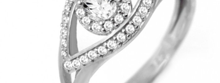 Evil Eye Ring - sterling silver