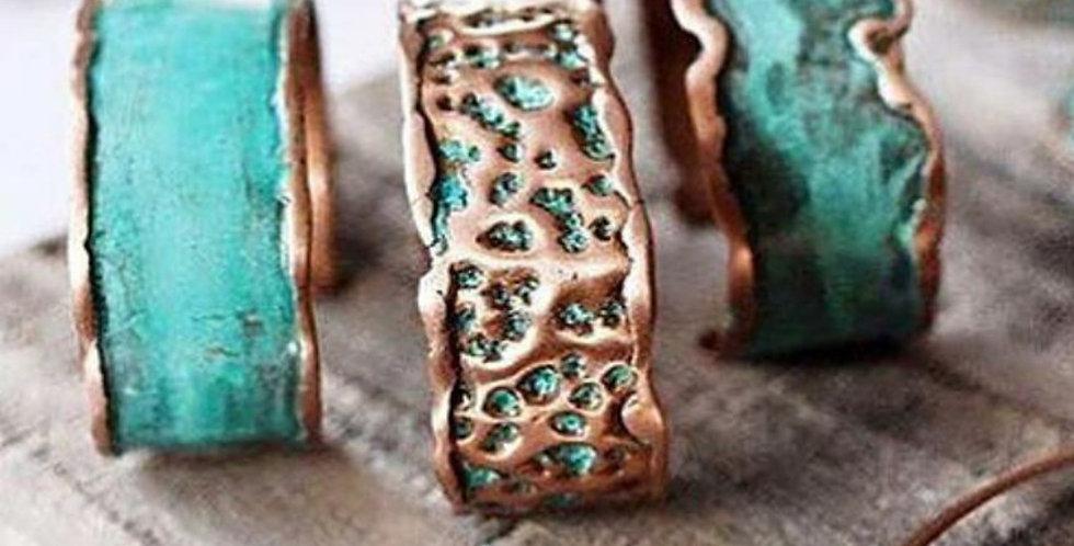 Copper Cuffs - Aqua Modern on Trend