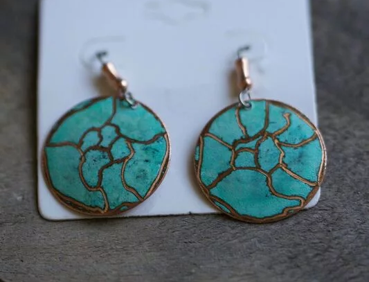 Earrings - Unique pattern round