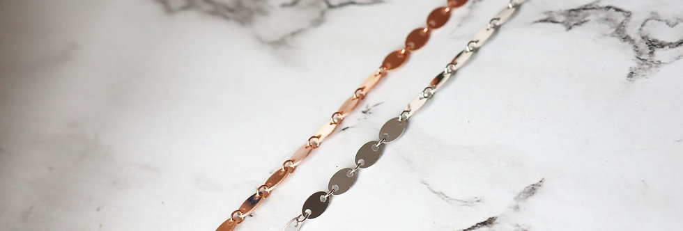 Bracelet - Angelic in Sterling Silver & Rose Gold