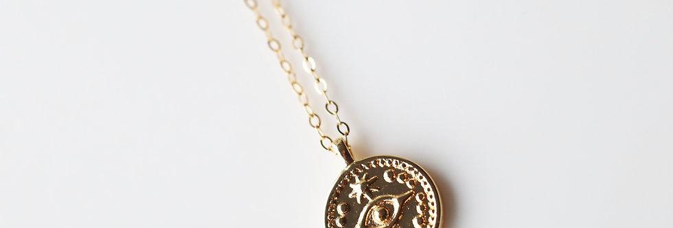 Necklace - Corfu Evil Eye in Gold