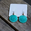 Thumbnail: Earrings - Unique Copper smooth round