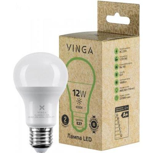 Лампочка(LED), Е27, 12 Вт, 4000 К (нейтральный белый)Vinga VL-A60E27-124L