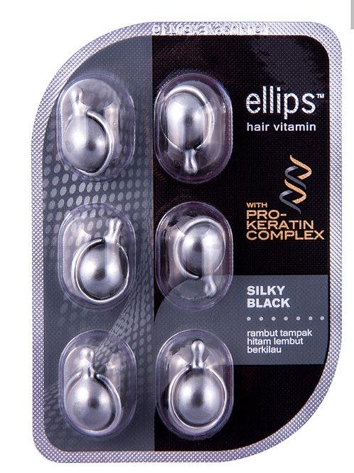 """Ellips """"Шёлковая ночь"""" витамины-масло для волос с Кератином, блистер 6шт"""
