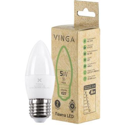 Лампочка светодиодная (LED), Е27, 5 Вт, 4000 К (нейтральный )Vinga VL-C37E27-54L