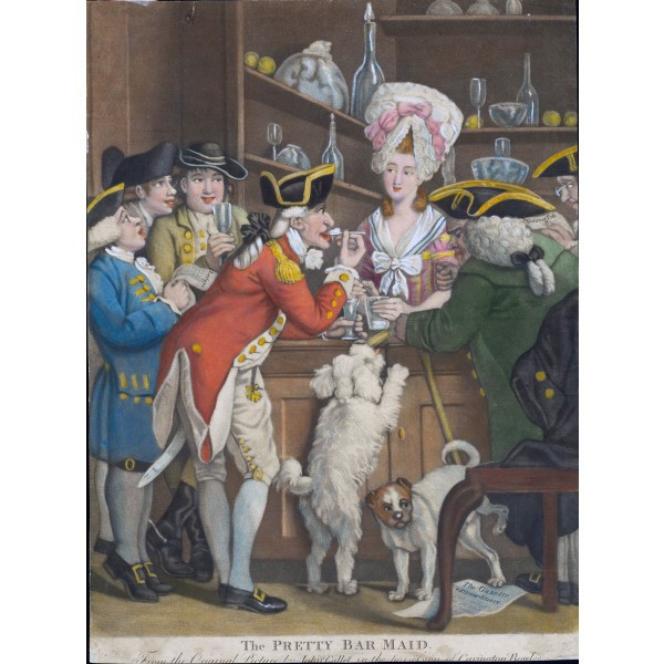 The Pretty Bar Maid by John Collet, 1770