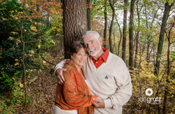 Couple in gardens in fall
