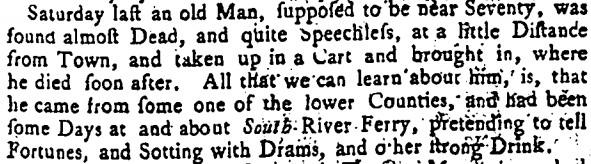 Maryland Gazette, January 8, 1761