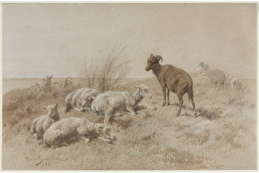 Sheep, Rose Bonheur, 1861, Cleveland Museum of Arty