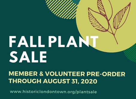 Plant Sale Pre-Order - Just for Members & Volunteers
