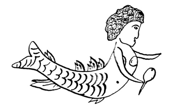 1700s Mermaid Tattoo