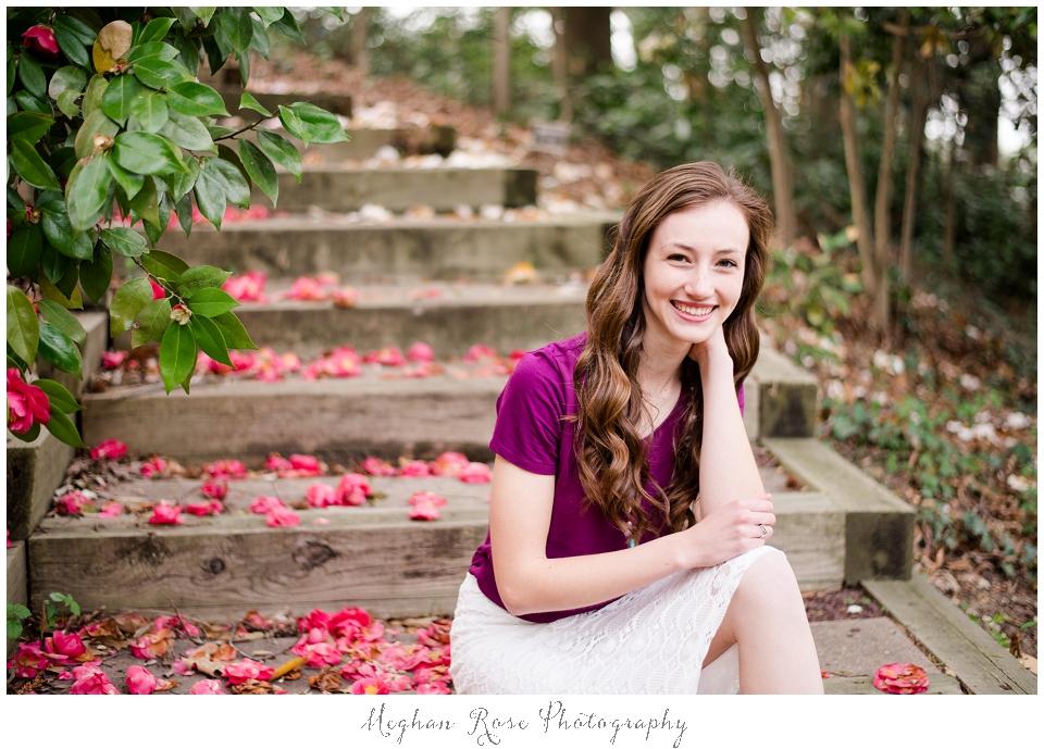 Girl in gardens
