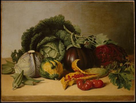 Still Life: Balsam Apple and Vegetables