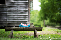 Baby in historic area