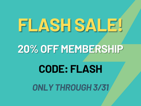 Membership Flash Sale!