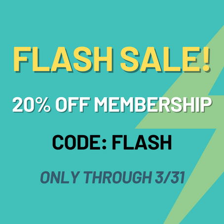 Membership Flash Sale!