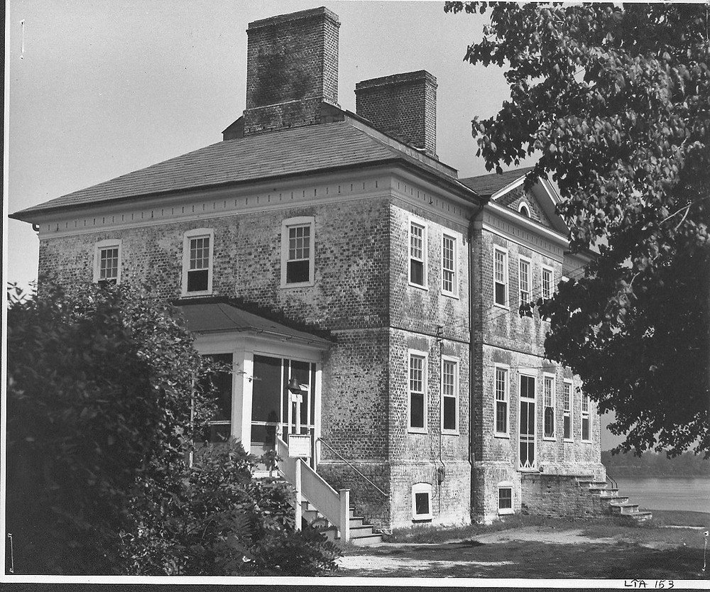 Scott Street View of William Brown House. Taken by Marion E. Warren in 1955. Copy is courtesy of the Maryland State Archives (MSA SC 1890-02-1973).