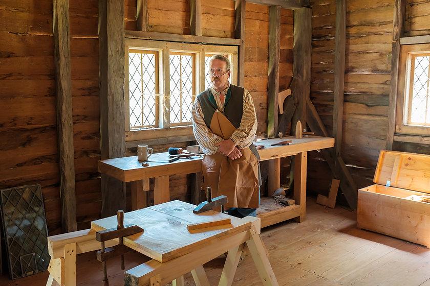 Carpenter Shop Interior with Seneca Cree