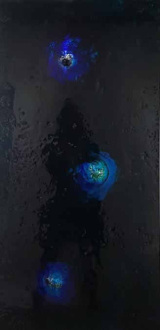 3_1 소리를본다(우주3)_122x61cm_알루미늄에 혼합재료_2020
