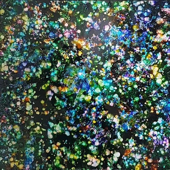 14소리를본다(별그림자4)_50x50cm_알루미늄에혼합재료_2020.jp