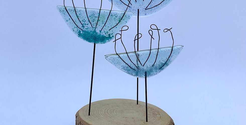 Recycled Glass Cow Parsley Stems