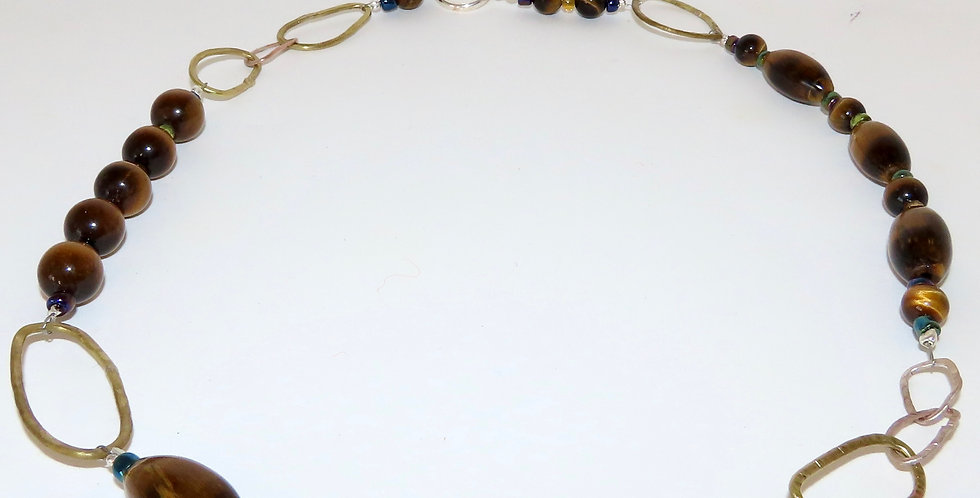 Tiger's Eye Chain Necklace