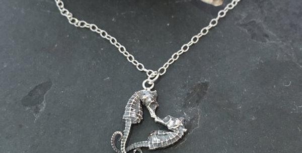 Seahorse Heart Necklace